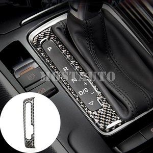 For Audi A4 S4 Carbon Fiber Console Gear Box Display Screens Cover 2008-2015 1pcs