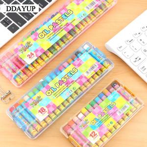 12/18/24 Renkler Wax Crayon Çizim Graffiti Öğrenci Boyama Suluboya Crayons İçin Çocuk Boyama Yağı yıkanabilir