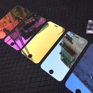 Miroir teinté en verre trempé pour IPhone 11 / 11Pro / 11 ProMax X / X XR XSMax 7P / 8P Anti-Scrath écran avant Protecteur Film Mode couleur