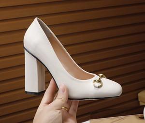 brand designer donne di stile scarpe casual scarpe G famiglia ACE web celebrity pelle superficiale tallone spesso tacco alto testa rotonda Patry EUR35-41