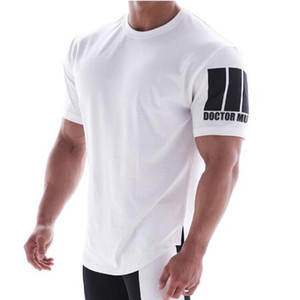 New Design Men T-shirt Gyms Fitness Bodybuilding T-Shirts Mens Fashion T-shirts Short Sleeve Casual Clothing With M-XXL