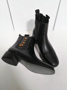 Top mujeres de la moda de botas de cuero de diseño 100% de coser cálidos y brillantes mujeres del otoño bota de cuero y las compras de invierno bota para caminar Entrega gratuita