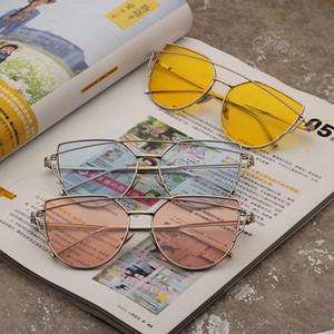 Moda Kadın Kedi Göz Güneş gözlüğü Retro Erkekler Metal Sürüş Spor Gözlükler Açık Lady Seyahat Plaj Gözlük TTA1133LJ-TTA Çerçeve