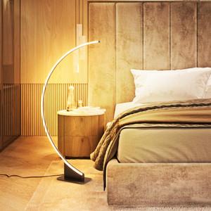 Basit Modern Yaratıcı Kişilik LED Dim Zemin Lambası Masa Lambası Yatak Odası Yatak LED Oturma Odası LED Göz Koruma Zemin Lambası