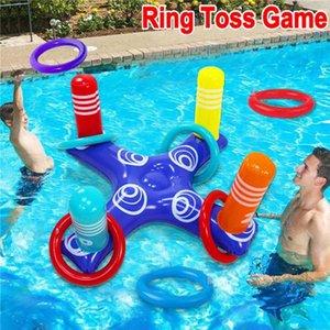 4 Party Float Spielzeug Ringe Zubehör Schwimmen Aufblasbare Ring Toss Pool Spiel Spiel Floating Ring Pool Kinder mit Spielzeug PCS Water Prjpu
