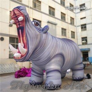 Customized Реклама Надувные животных Модель Hippo 3м / 4м / 5м Высота Большой Blow Up Бегемот Для Парк развлечений и Parade украшения