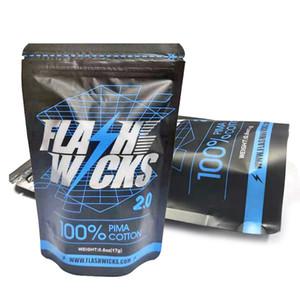Flash Wicks 2.0 algodão 100% Cigarette PIMA Para RDA RDTA Atomizer tanque DIY ferramenta eletrônica Acessórios DHL grátis