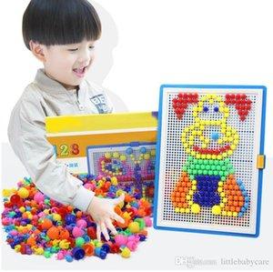 Hot Mosaic Picture Puzzle Toy Enfants Composite intellectuelle Champignon éducation Nail Kit Toys Expédition gratuite