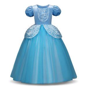 Sevimli Cosplay Prenses Elbise Uzun Kollu Kız Kostüm Külkedisi Rapunzel Parti Elbise Kız Elbise Vestidos Infantis
