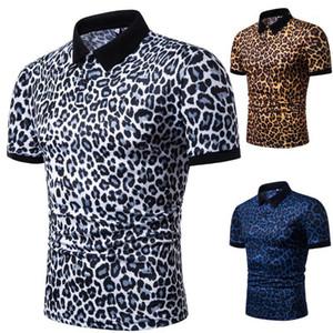 Рубашка поло тройники с коротким рукавом Tops 19ss мужские Leopard Polos Summer Дизайнер Мужской Повседневная мода