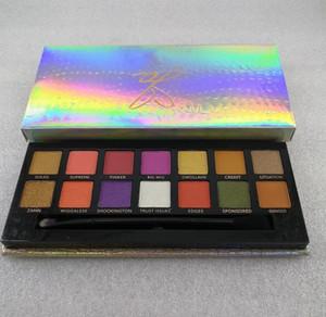 Maquiagem Hot Modern olho sombra paleta 14colors paleta da sombra limitada com paleta escova rosa sombra DHL Shipping + presente
