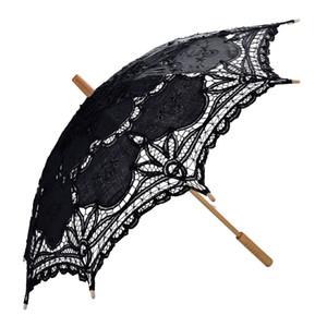 Black Lace Parasol Umbrella Romantic Wedding Umbrella