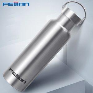 Feijian deportes termo de acero inoxidable aislado al aire libre botella de agua potable frasco de vacío caldera de viaje coctelera Q190430