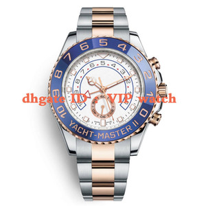 Relojes para hombre 116681 de 44 mm en dos tonos de oro rosa de acero inoxidable de los hombres mecánicos relojes grandes Automático Dial orologio di Lusso
