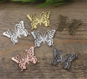 L'Argent / Or Couleur de 20pcs Papillon Charm Bracelet Colliers pendentif pour collier Accessoires Fabrication de bijoux bricolage à la main