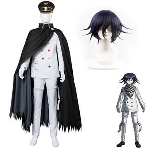 Danganronpa V3 Killing Harmony Ouma Kokichi Cosplay Costume Roupas Acessórios Perucas de alta qualidade