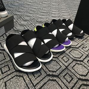 Nova Bashyo Y-3 QASA Sandálias Das Mulheres Dos Homens Quentes preto branco azul Anti-derrapante de Secagem Rápida-chinelos Ao Ar Livre Sapatos de Praia de Água Macia Sapatos