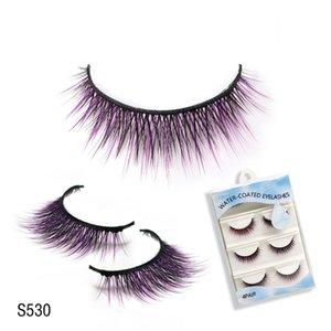 4Pairs Reusable False Eyelashes Water-Self-Stick Eyelashes Without Glue Beauty Party Makeup Eyelash Extension Eyelashes
