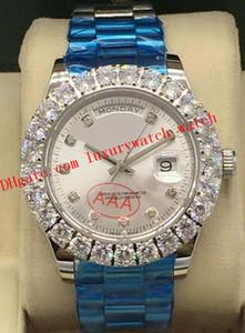 Latest Version 9 Style Luxury Watches Bigger Diamond Bezel Diamond Dial Mens 116238 43mm Automatic Fashion Men's Watch Wristwatch