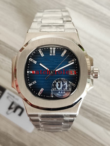 U1 Фабрика новый Mens автоматическое движение 40 мм Часы синий циферблат F Nautilus Классик 5711 / 1A Часы алмаз 40-летие