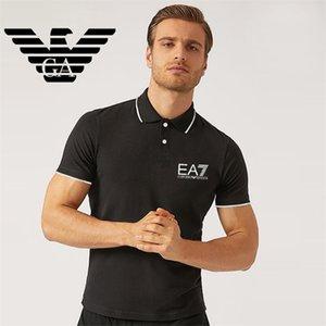 G2Degli uomini di Armani Designer Polos marca piccolo cavallo abbigliamento uomini tessuto lettera Designer' polo t-shirt collare maglietta casuale T shi