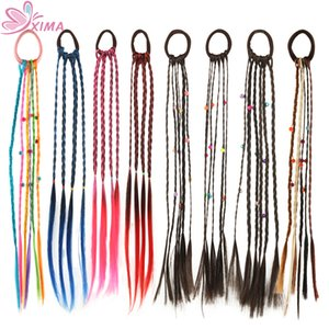 1PC Женщины Резинка для волос Twist парик оголовье Bohemian Плетеный головная повязка Kid волос обхватывает зажим для волос Головные уборы