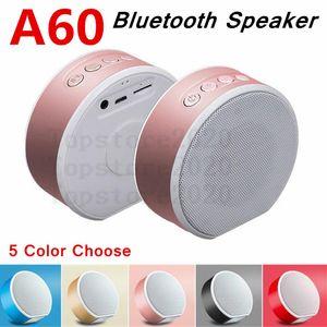 A60 drahtloser Bluetooth Lautsprecher-Lautsprecher Portable Mini Subwoofer Audio Geschenk Stereo-Lautsprecher Sound-System TF AUX A60 Spieluhr