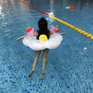Bebek Bulut Şişme Halka Çocuk Şamandıra Havuzu Yüzme Oyuncaklar Flamingo Yaz Açık Renkli Sıcak Satış 20jlf1