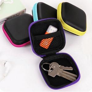 5 colour Portable Data Cable Storage Bag Earphone Wire Organizer Case for Headphone Line Headset Closet Organizer Storage Box