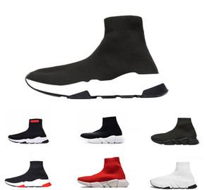 Balenciaga Neueste Socken Designer Schuhe Geschwindigkeit Luxus Trainer Rennen Läufer Schwarz Rot Triple Black Weiß Flache Männer Frauen Mid Sport-Stiefel-Turnschuhe 36-45