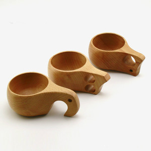 Handmade Beech Wooden Cups Nordic style Finnish Traditional Outdoor Wood Wine Cups Elephant Coffee Tea Cups