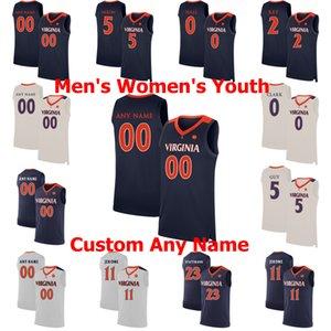 NCAA Virginia Cavalier College Basketball Jerseys 33 Jack Salt Jersey Isaiah Justin McKoy Wally Walker Chase Coleman Custom Stitched