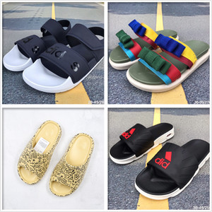 erkekler Yaz sandalet ve terlik plaj terliği moda spor ayakkabısı tek kaymaz Velcro rahat gündelik sandaletler terlik masaj çok renkli