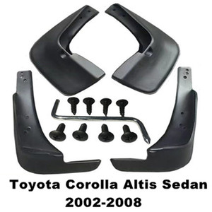 4pcs / Set de coches Guardabarros Guardabarros Guardabarros Guardabarros aleta del fango para Toyota Corolla Altis Sedan 2002 2003 2004 2005 2006 2007 2008