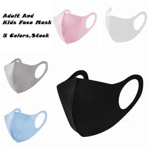 5 Colors Adult Kids Face Masks Anti Dust Masks Anti-fog Face Mask Breathable Reusable Dustproof Ice silk Cotton Masks ZZA1866