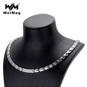 wholesale Trendy Hematite Magnetic Necklace for Women Dropshipping Crystal Stainless Steel Korean Necklaces Silver Color 2018