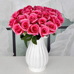6cm Artificial Rose Flowers for Baby Shower Birthday Decoration Christmas Gift Wrapping 24 Flower Heads Wedding Flower Bouquet