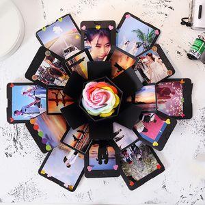Surpresa Explosão Box DIY Handmade álbum de recortes portátil surpresa Presente romântico Box presente para o amante aniversário #L