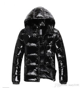 후드 착실히 보내다 파카 코트 반짝 광택 다운 재킷 아래로 재킷 오리 디자이너 재킷 겨울 재킷 남성 화이트
