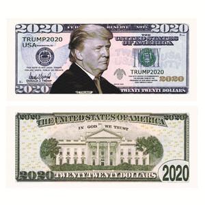 2020 Donald Trump US-Präsident Färbt $ 2020 Dollar Bill Silber Folie Gedenkbanknote Trump Papier gefälschtes Geld Coupon Geschenke E22807
