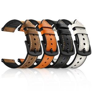 Correa de reloj de cuero de 22 mm para Samsung Galaxy Watch Correa de muñeca deportiva de 46 mm para Samsung S3 Frontier / Correa de reloj clásica para huawei watch gt