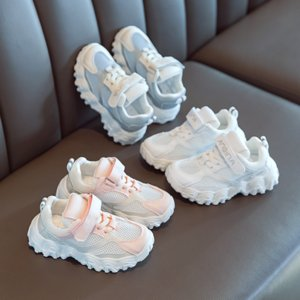 Girls'shoes 2020 summer new fashionable children sneakers Korean version breathable mesh white shoes boys daddy shoes