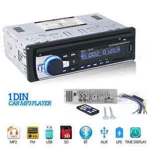 Autoradio JSD-520 자동차 스테레오 1 딘 자동차 라디오 12V 블루투스 FM 보조 입력 수신기 오디오 SD의 USB의 MP3 (520)를 JSD