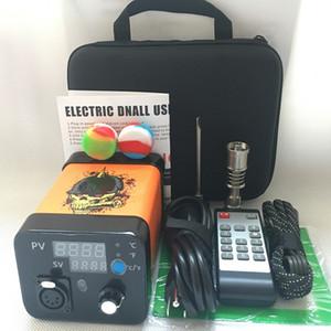 2019 Date Portable à distance Enail électrique Dab nail E kits à ongles TC PID boîte numérique dabber avec Ti Titanium quartz ongles pour verre bong