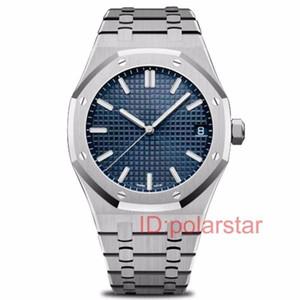Lujo movimiento Rose oro azul de acero inoxidable para hombre de negocios mecánico automático relojes Royal Oaks Designer Series reloj de los hombres de pulsera