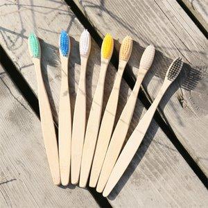 Banyo Ürünlerin Biyobozunur Diş Fırçası Doğal Bambu Gökkuşağı Color Hotel Diş fırçaları Dayanıklı Basit Yeni 0 76wy E1 Tasarımları