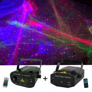 Sharelife 2adet Seti RGB Hipnotik Aurora RG Yıldız Lazer Işığı Uzaktan Kumanda Hız DJ Gig Parti Ev Mini Sahne aydınlatma