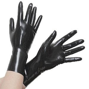 Latex Short Gloves 0.4mm Club Wear for Catsuit Dress Rubber Fetish Costume