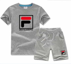boy Photos Kids Sets Children T-shirt And Shorts Pants Kids Tracksuits Children Sport Suit 2 Pcs Short Sleeve 100-140