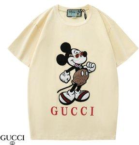 Erkek T Shirt Siyah Beyaz Erkek Moda Bayan T Shirt En Kısa Kollu S-XXL
